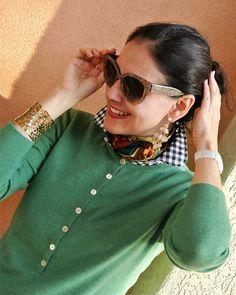 #Pretty #Preppy Girl in #Green