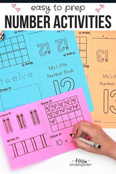 Easy to prep number activities for kindergarten. Looking for hands-on number activities that are low prep? Check out this post! Help your kindergarten students practice number sense with these easy to prep number activities. #kindergarten #numberactivities #easytoprepnumberactivities Miss Kindergarten, Kindergarten Math Activities, Number Activities, Learning Activities, Teaching Numbers, Number Sense, Prepping, Students, Hands