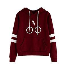Walaka Sweater Femme Automne Hiver Tops À Manches Longues Encapuchonné Sweat -Shirt Harry Potter Imprimé · Vetement SportMode ... 692dd312d4f