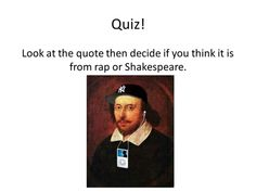Rap or Shakespeare