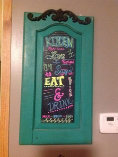 Kitchen Chalk board from Shabby Chic Blessings