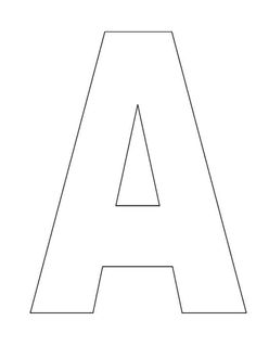 Large Block Alphabet Letters For Coloring Pages Or Letter
