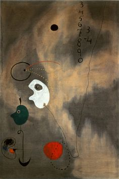Joan Miró, Painting (The Sun), 1925 Oil on canvas, 195 x 130 cm / 76 4⁄5 x 51 1⁄5""