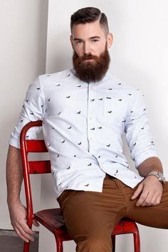 This whole outfit including the beard! Barba Sexy, Herren Style, Look Man, La Mode Masculine, Neue Outfits, Awesome Beards, Inspiration Mode, Beard No Mustache, Hair And Beard Styles