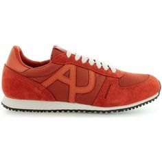watch 733ae f77b6 Armani jeans c6520 heren sneakers (Rood)