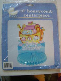 10 HONEYCOMB NOAH'S ARK BABY SHOWER CENTERPIECE . $4.99