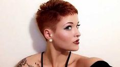 Chic-Red Very Short Hairstyle Pics Every Lady Need to See Short Spiky Hairstyles, Very Short Haircuts, Short Hairstyles For Women, Short Buzzed Hair, Short Hair Syles, Short Hair Trends, Really Short Hair, Super Short Hair, Short Hair Cuts For Women
