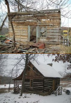Ten years of dedication saw this 1830's settler's cabin reborn. You'll find the story and full album of 18 images on our site at http://theownerbuildernetwork.co/house-hunting/recycled-homes/rrs-cabin/ Want it?