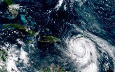 Download wallpapers Hurricane Maria, view from space, NASA, Atlantic tropical cyclone