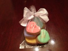 Conversation Hearts Hand decorated Sugar by YouandMeConfections, $25.00
