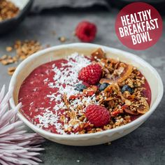This non-dairy yogurt is packed with blueberries, strawberries, mulberries, goji berries, coconut, avocado and cacao nibs for a delicious breakfast that's fast and easy to make.  #GojiBerries #gojiberry #superfood #HealthyLife #organicfood #yogurt #health #nutrition