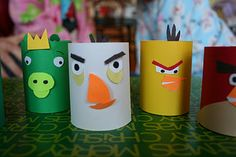 Toilet Paper Tube Craft: Homemade Angry Birds! - Pinned by @PediaStaff – Please visit ht.ly/63sNt for all (hundreds of) our pediatric therapy pins