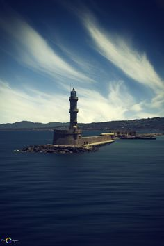 Xania Lighthouse Crete - Greece. I had dinner in the restaurant behind that lighthouse