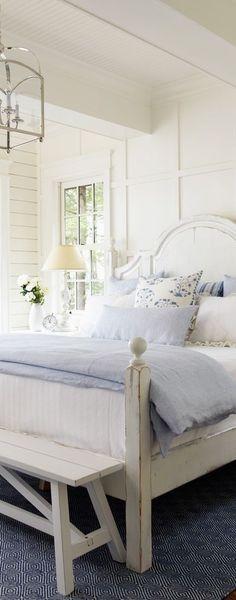 Coastal Bedroom Design. A beautiful, simple bedroom.