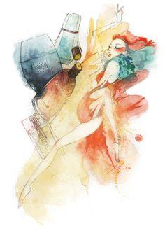 Woman perfume of the times by LIN hang, via Behance