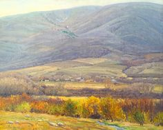 """""""Across the Valley, """" LeConte Stewart, 24x30, oil on canvas"""