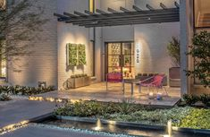 Curb Appeal | 2021 | HGTV Modern Landscape Design, Modern Landscaping, Front Yard Landscaping, Landscaping Ideas, Outdoor Spaces, Outdoor Living, Outdoor Decor, Modern Front Yard, Backyard Ideas For Small Yards