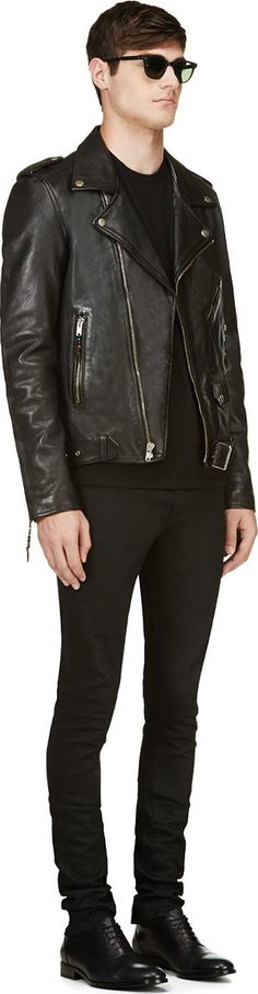 BLK DNM Black Classic Biker Jacket