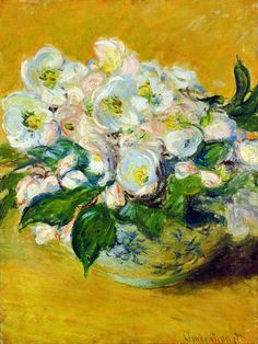 """""""Christmas Roses"""" ・ by Claude Monet ・ Date: 1883 ・ Style: Impressionism ・ Genre: flower painting Claude Monet, Monet Paintings, Impressionist Paintings, Flower Paintings, Art Floral, Artist Monet, Art Amour, Christmas Rose, Merry Christmas"""