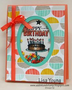 Add Ink and Stamp: Birthday Shaker Card