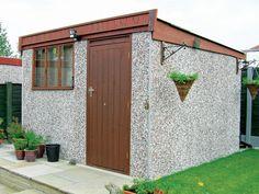 Waltons wooden sheds Storage sheds outlet: garden sheds, metal sheds, wood, Storage sheds are the perfect solution f. Prefab Sheds, Metal Shed, Wooden Sheds, Shed Storage, Simple Designs, Garden Ideas, Concrete, Home And Garden, Outdoor Decor