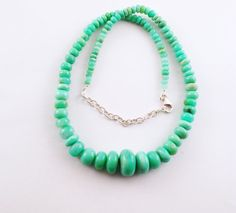 Large Chrysoprase Gemstone Necklace with Nickel by Graceanchor