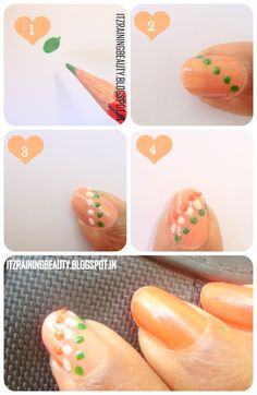 easy to do nail art step by step tutorial | ... Beauty: 4 Simple Nail art (Independence day) : Step by Step Tutorial