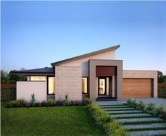 Beyond the facade of Botanica home is the contemporary & spacious interior retreat. Step inside homes of style, inspiration and beautiful design! Facade House, House Roof, Modern House Plans, Modern House Design, Modern Exterior, Exterior Design, Morden House, Dream House Exterior, House Elevation