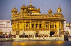 The most sacred place in Sikhism in the Golden Temple at Amritsar