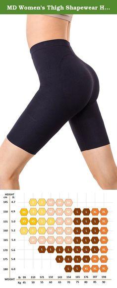 15e012193a76f MD Women s Thigh Shapewear High Waist Mid Thigh Shaper Slimmer Power Shorts  Medium Black. MDshe s