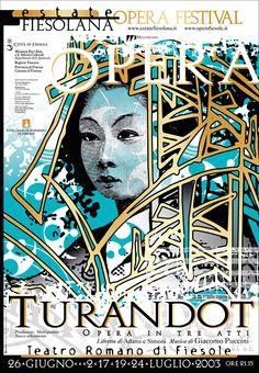Emo Risaliti Lyric Opera Poster - Turandot