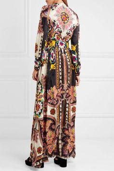 Etro - Lace-trimmed Printed Jacquard Gown - Pink