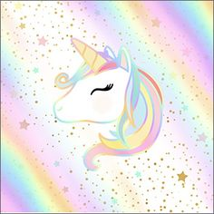 Unicorn and Rainbow: Free Printable Candy Bar Labels. Unicorn Logo, Cartoon Unicorn, Baby Unicorn, Unicorn Art, Cute Unicorn, Unicornios Wallpaper, Wallpaper Iphone Cute, Cute Wallpapers, Unicorn Painting
