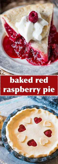 Use frozen red raspberries in this Amish-style baked raspberry pie. The tangy red filling takes just minutes to mix together.