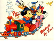 Mickey Mouse Toy Train-Railroad-Character Friends-England Disney Art Postcard Mickey Mouse Toys, Mickey Mouse And Friends, Minnie Mouse, Mazes For Kids Printable, Train Drawing, Mickey Mouse Pictures, Kids Reading Books, Funny Toys, Deco
