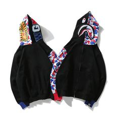 e40157109b32 a bathing ape shark hoodie sweatshirt Camouflage half sleeve Paris limited bathing  ape.