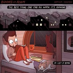 """20 Hilarious Comics For The Cat Lovers - Funny memes that """"GET IT"""" and want you to too. Get the latest funniest memes and keep up what is going on in the meme-o-sphere. I Love Books, Books To Read, My Books, Cat Memes, Funny Memes, Hilarious, Adam Ellis Comics, Book Lovers, Cat Lovers"""