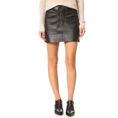 547c570a9b Free People Join Hands Leather Skirt ($67) ❤ liked on Polyvore featuring  skirts, mini skirts, black, leather mini skirt, real leather skirt, mini  skirt, ...