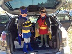 Batman and Robin, twin costumes