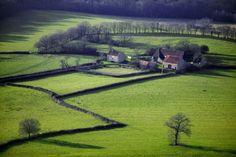Farm Fields in Borgogne, France by Alex MacLean