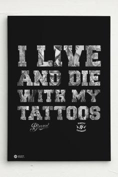 Scotty76 Tattoo Leinwand / Canvas