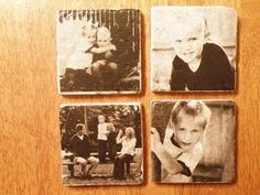 Pictures coaster (printing picture of tissue paper)
