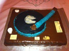 "Birthda Art Cake - "" The LP Player"" created by Barb Ruth, Mülheim an der Ruhr, Germany"