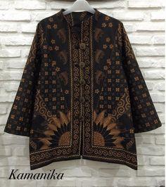 Batik Blazer, Blouse Batik, Batik Dress, Batik Fashion, Hijab Fashion, Outer Batik, Big Size Fashion, Model Kebaya, Batik Kebaya