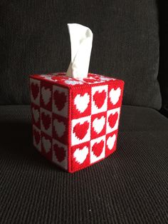Excited to share the latest addition to my shop: So Cute! Valentines Day Hearts Plastic Canvas Tissue Box Cover, Tissue Box Topper, Holiday, Red and White Hearts Plastic Canvas Ornaments, Plastic Canvas Tissue Boxes, Plastic Canvas Christmas, Plastic Canvas Crafts, Valentine Day Special, Valentine Box, Valentines Day Hearts, Christmas Boxes Decoration, Valentines Day Decorations