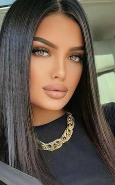 Most Beautiful Faces, Stunning Eyes, Beautiful Lips, Gorgeous Makeup, Brunette Beauty, Hair Beauty, Stunning Brunette, Blonde Hair Looks, Tips Belleza