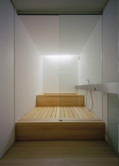 Moderne badkamer #wit #hout