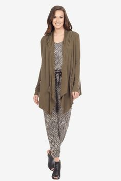 Open Front Hooded Jacket