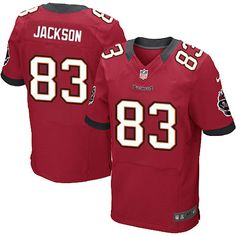 5269f8821 Men s Nike Tampa Bay Buccaneers  83 Vincent Jackson Elite Team Color Red  Jersey  129.99