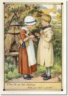 Cicely Mary Barker - A Little Book of Old Rhymes - About the Bush Painting